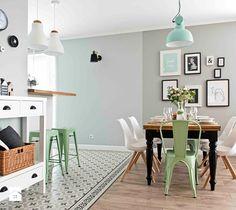 Deco style with antique tiles Küchen Design, Deco Design, House Design, Vintage Interior Design, Vintage Home Decor, Black Kitchens, Kitchen Flooring, Home Decor Inspiration, Inspiration Boards