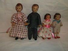 Vintage Doll House dolls germany-family-rubber- miniature-ARI KONIGSEER PUPPEN