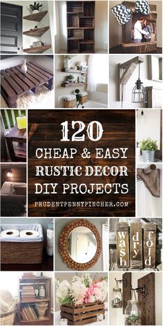 Save money with these cozy rustic home decor ideas! From DIY furniture to DIY wall art, there are over a hundred easy DIY home decor ideas on a budget to choose from. home diy cheap 120 Cheap and Easy Rustic DIY Home Decor Diy Wand, Diy Rustic Decor, Farmhouse Decor, Modern Farmhouse, Country Farmhouse, Modern Decor, Home Decor Kitchen, Home Decor Bedroom, Bedroom Rustic
