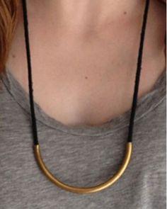 Brass Standard Black Necklace -