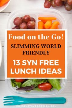 Looking for food on the go? Here are 13 hot and cold Slimming World friendly lunch ideas you need to take a look at – all low syn and easy to make and prepapre. Looking for food on the go? Here are 13 hot and cold Slimming World friendly lunch ideas … Slimming World Lunch Ideas, Easy Slimming World Recipes, Vegan Slimming World, Cold Lunches, Cold Lunch Recipes, Healthy Lunches, Syn Free Food, Lunch To Go, Lunch Box