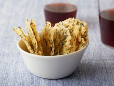 Parmesan, Basil and Lemon Wafers (Frico) recipe from Giada De Laurentiis via Food Network