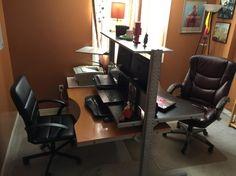 Tshaped partner desk from ikea parts office