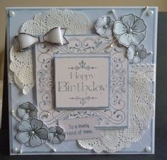 Creative expressions stamps and Dreamees Delights sentiment stamp and flowers