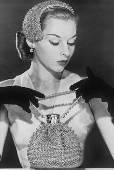 1950s - hat and purse. And one must wear gloves, mustn't one?