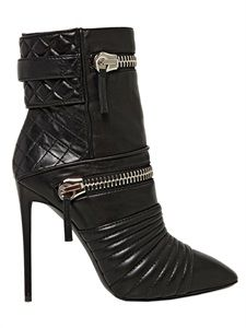 Giuseppi Zanotti Quilted Zipped Calf Ankle Boots