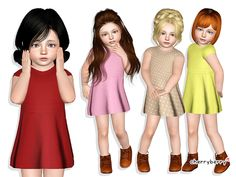 Vintage toddler dress by CherryBerrySim - Sims 3 Downloads CC Caboodle