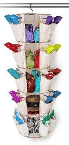 NEW College Dorm Carousel Organizer, 5-Tier, Beige - 40 Pockets Shoes Purses | eBay