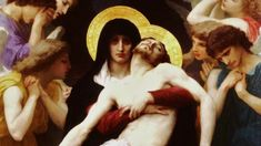 off Hand made oil painting reproduction of Pieta, one of the most famous paintings by William-Adolphe Bouguereau. The French artist William-Adolphe Bouguereau painted one of his most iconi. William Adolphe Bouguereau, Catholic Art, Religious Art, Roman Catholic, Catholic Hymns, Catholic Radio, Catholic Daily, Catholic Prayers, Catholic Saints
