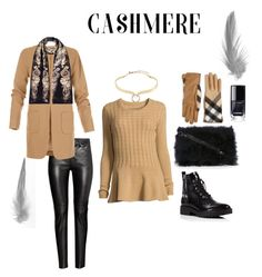 """#Cashmere"" by alma-cizmic ❤ liked on Polyvore featuring Neiman Marcus, Louise Coleman, Burberry, Topshop, Kendall + Kylie and Alexis Bittar"