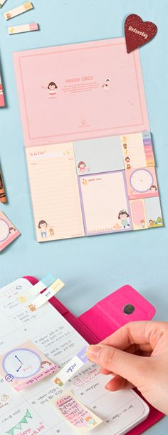A booklet of the cutest and MOST functional sticky notes!! I think I need this!