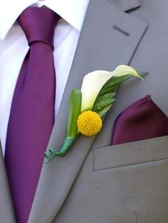 I like the combo of the purple and yellow with grey tuxedos.