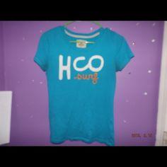 Hollister t-shirt !!! Light  blue  HCO  short  sleeve t-shirt. Both in good condition     Good condition Hollister Tops Tees - Short Sleeve