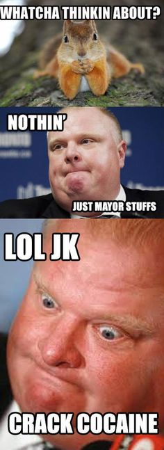 Whatcha Thinkin About Mayor Rob Ford? – Meme