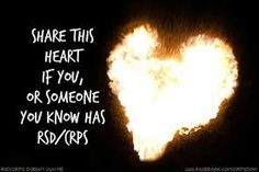 Share this flaming heart if you or someone you know has RSD/CRPS