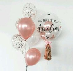 Clear Balloons With Confetti, Bubble Balloons, Helium Balloons, Baby Shower Balloons, Graduation Party Themes, Graduation Balloons, Graduation Decorations, Balloon Decorations, 1st Birthday Balloons
