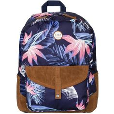 Roxy Carribean Backpack ($28) ❤ liked on Polyvore featuring bags, backpacks, purple, roxy rucksack, purple bag, roxy backpack, purple backpack and blue bag