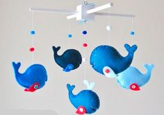 Boy: Baby Crib Mobile - Custom Baby Mobile - Whale Mobile - Zoology Whale - You can pick your colors :) via Etsy.but way too expensive :( Whale Mobile, Baby Crib Mobile, Nursery Themes, Nursery Decor, Nursery Mobiles, Themed Nursery, Whale Nursery, Diy Crib, Baby Shower