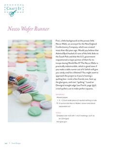 Necco Wafer Runner Instructions #SweetDesignsBook #AmyAtlasSweetScavengerHunt #Easter #Pastel Pretty
