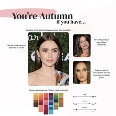 What's your colour season? The art of colour analysis. Deep Autumn Color Palette, Skin Color Palette, Cool Skin Tone, Colors For Skin Tone, Neutral Skin Tone, Skin Undertones, Warm Undertone, Seasonal Color Analysis, Dark Autumn