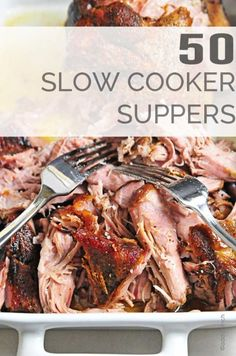 50 Slow Cooker Recipes for Supper gives you plenty of weeknight dinner ideas and recipes perfect for back to school and other busy weeknights!