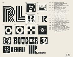 R-13  Collection of vintage logos from a mid-70's edition of the book World of Logotypes.