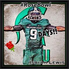 9days to rosebowl... 100thanniversary...Pasadena..spartans