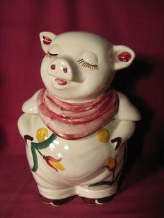 Vintage Shawnee Smiley Pig Cookie Jar
