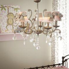 Elegance 5 Light Chandelier Grey with Shades