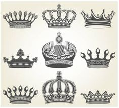 Dimonds Tattoo : L image d finie couronnes dans le style vintage Banque d'images. King Crown Tattoo, Small Crown Tattoo, Crown Tattoo Design, Queen Tattoo, Crown Tattoos, Vintage Stil, Style Vintage, Couple Tattoos, Tattoos For Guys