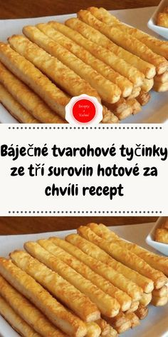 Báječné tvarohové tyčinky ze tří surovin hotové za chvíli recept Appetizer Recipes, Appetizers, Cooking Tips, Cooking Recipes, Summer Recipes, Hot Dog Buns, A Table, Bakery, Food And Drink