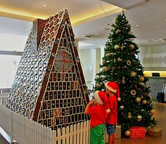 Where is it: Podium Level, Rydges South Bank Cnr Grey & Glenelg Streets, South Bank . What's it all about: A giant gingerbread house for Christmas spirit and to support the Lady Cilento Children's Hospital in spreading some Christmas cheer to sick kids! Sick Kids, Bacchus, Childrens Hospital, Brisbane, Gingerbread, Cheer, Spirit, Christmas Tree, Holiday Decor