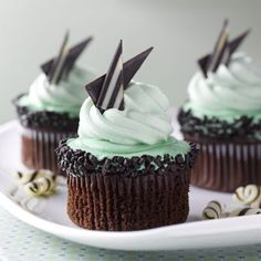 Chocolate Mint Cupcake Recipe from Royal Caribbean Cruise Line