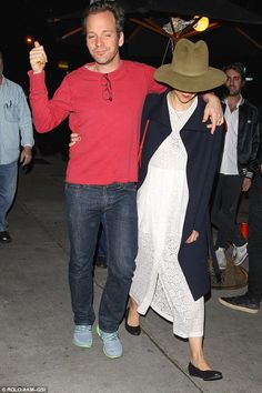 Her new favourite accessory? Maggie wore the same hat as she and her husband Peter Sarsgaard went to Craig's in West Hollywood on Wednesday Rustic Outfits, Maggie Gyllenhaal, Boat Neck Tops, Pharrell Williams, Old Actress, Cotton Skirt, Second Hand, Peasant Tops, Hats For Women