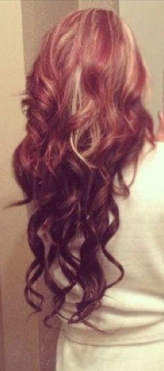 Wavy Deep Wine Red Hair   Full Head Remy Clip in Human Hair Extensions -Mahogany/Deep Wine Red (#99J)   Shop Now: http://www.cliphair.co.uk/20-Inch-Full-Head-Set-Clip-In-Hair-Extensions-Mahogany-Deep-Wine-Red-99J.html