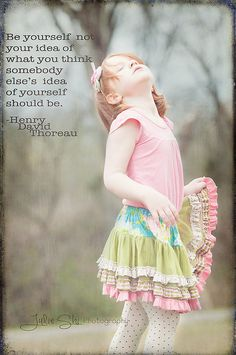 be yourself Henry David Thoreau quote child photography