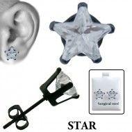 Wholesale Body Jewelry Ear Stud Prong Set Star - ES25-K Wholesale Body Jewelry, Ear Studs, Prong Set, Star, Earrings, Ear Rings, Stud Earrings, Jacket Earrings, Stud Earring