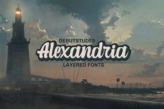 Alexandria Script - 4 Layered Fonts by Debut Studio Home Design, Interior Design Trends, Web Design, Graphic Design, Creative Design, Design Art, Design Ideas, Handwritten Fonts, Calligraphy Fonts