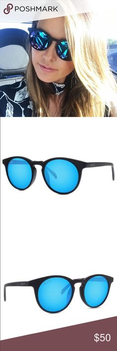 DIFF Charlie Sunglasses DIFF Eyewear Charlie polarized sunglasses, matte black with blue mirror lenses Very gently worn only a couple times, like new condition with pouch Diff Eyewear Accessories Sunglasses