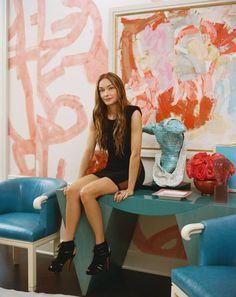 Kelly Wearstler- Interior Designer with BIG 'I' & 'D'