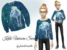 I made awesome child sweaters set with bunny, unicorn, panda and hipster grumpy cat design =) Found in TSR Category 'Sims 4 Male Clothing sets' Sims 4 Tsr, Sims Cc, Sims 4 Children, Kids, Sims 4 Custom Content, Sweater Set, Cat Design, Grumpy Cat, Outfit Sets