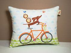 Wiener Dog Dachshund Pillow  Doxies and Owl by persnicketypelican, $17.00- I so need this since I am in love with Doxies and Owls!