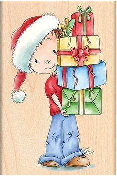 Santa's Helper - Rubber Stamp