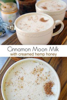 Yummy Drinks, Healthy Drinks, Yummy Food, Fun Drinks, Moon Milk Recipe, Milk Tea Recipes, Cake Recipes, Vegan Recipes, Cooking Recipes