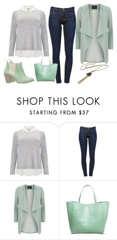 """mint-astic"" by tracie-renae on Polyvore featuring Studio 8, Frame Denim, Dorothy Perkins and Merona"