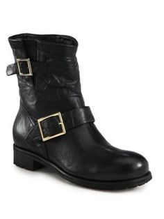 6dd57a9a7afade Jimmy Choo - Youth Leather   Shearling Biker Boots