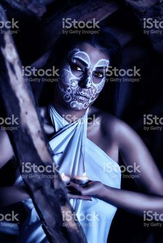 Beautiful women with creative make up for the Halloween royalty-free stock photo