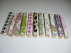 15 Custom Clothespins one style or a variety by SouthernCustoms, $6.99: Who wouldn't want pretty clothespins?