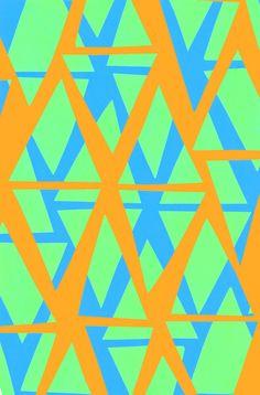 Orange, Green and Blue Diamond Pattern - Sarah Bagshaw
