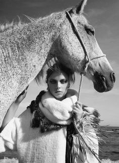 Horse and Model ~